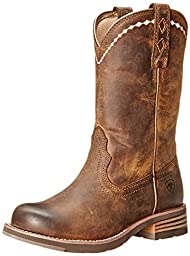Ariat Women\'s Unbridled Roper Western Cowboy Boot, Distressed Brown, 9.5 M US