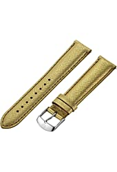 MICHELE Women's MS18AA430546 18 mm Leather Gold Band