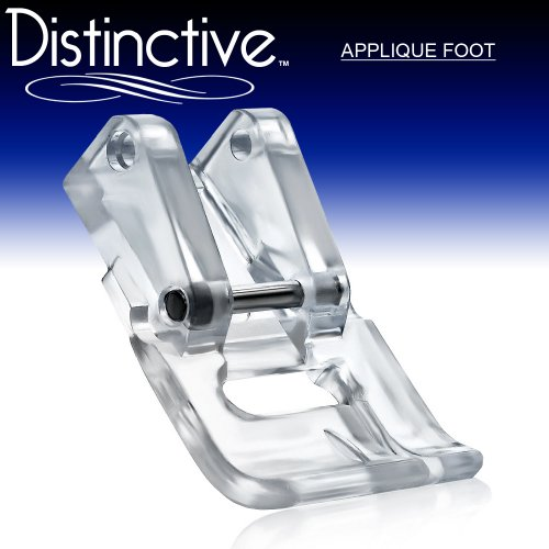 Distinctive Applique Clear Sewing Machine Presser Foot - Fits All Low Shank Snap-On Singer*, Brother, Babylock, Viking (Husky Series), Euro-Pro, Janome, Kenmore, White, Juki, Bernina (Bernette Series), New Home, Simplicity, Necchi, Elna and More!