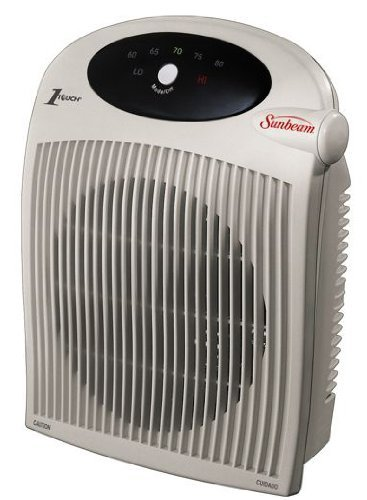 SUNBEAM Fan Heater, 1 Touch Electric Thermostat,alci Plug (Sunbeam Fan Forced Heater compare prices)