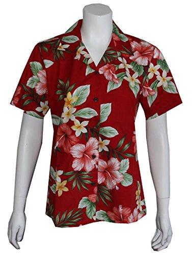 9e48e374 Made in Hawaii ! Women's Hibiscus Floral Hawaiian Aloha Camp - Import It All