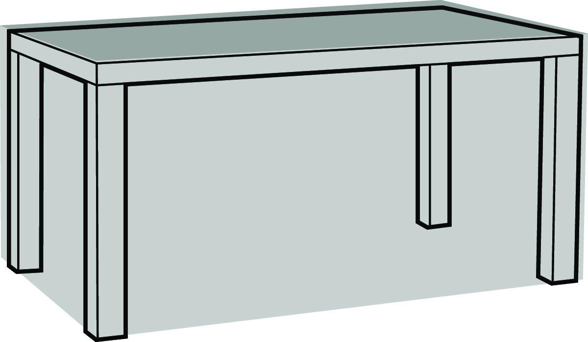 Eigbrecht 240169 Robusta Abdeckhaube Schutzhülle mit Abhang für Tischplatten rechteckig grau 160x95x70cm online kaufen