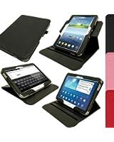 """igadgitz Premium 360° Rotatif Noir Cuir PU Etui Housse Case Cover pour Samsung Galaxy Tab 3 10.1"""" GT-P5210 Avec Auto Mise en Veille Réveil + Support Multi Angles + Film de Protection"""