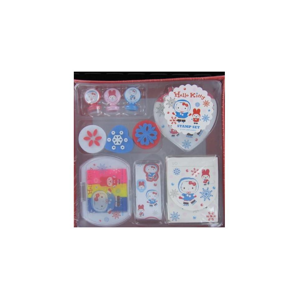 Japanese Sanrio Hello Kitty Stamp Set (Ice Skate) Toys & Games