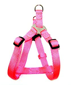 Hamilton Adjustable Easy-On Step-In Style Dog Harness, 3/4-Inch by 20-30-Inch, Medium, Hot Pink