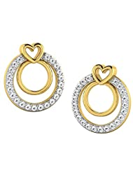 0.09 Cts Sparkles Diamond Earring In 18KT Gold
