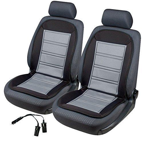2x beheizbare sitzauflage sitzheizung warm up 16590 schwarz grau doppelsteckdose f r 12v. Black Bedroom Furniture Sets. Home Design Ideas