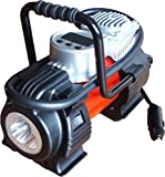 Kensun Portable Travel Multi-Use Air Pump Compressor/Inflator with Digital Gauge and Worklight
