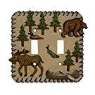 MOOSE bear Double Light SWITCHPLATE lodge switch plate