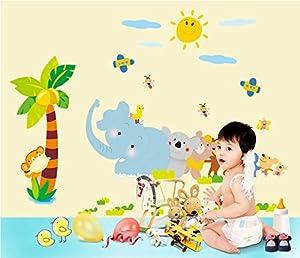 """ufengke® """"el Paraíso Animal"""" Animales Lindos Jugar Juegos Pegatinas de Pared, Vivero Habitación de los Niños Removible Etiquetas de la Pared / Murales por Ufingo en BebeHogar.com"""