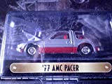 1977 AMC Pacer (silver/red) Motor Trend 50th Anniversary Edition 1:64 scale die-cast by Racing Champions with openable hood and rubber tires