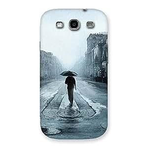 Cute Beautiful Walking Rain Multicolor Back Case Cover for Galaxy S3
