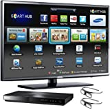 Samsung UN46EH6070 46-Inch 1080p 120Hz LED 3D HDTV with 3D Blu-ray Disc Player (Black)
