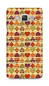 Amez designer printed 3d premium high quality back case cover for Samsung Galaxy A5 (Background heart many colorful texture)