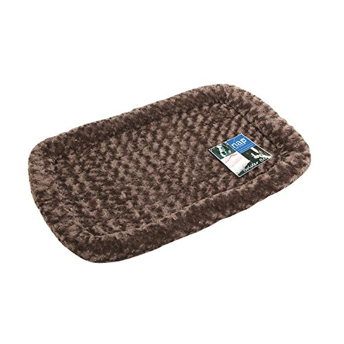 Nap Pet Bed Ultra Plush Bolster Pet Bed, Chocolate, 24-Inch By 36-Inch