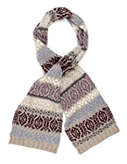 M&S Collection Fair Isle Scarf