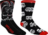 Star Wars Darth Vader Men's Casual Crew Sock Set - Pack of 2 (Men's Shoe Size 6-12)