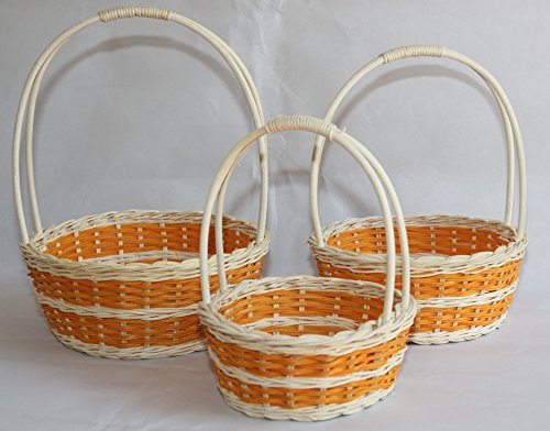 Range Flower Baskets : Rt or rattan flower baskets easter
