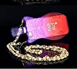 L-zone Rock Me Perfume Bottle Case with Chain for iPhone 5/5S (Purple+Red)