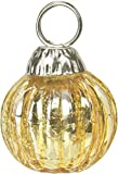 Luna Bazaar Miniature Glass Bauble Place Card Holder (1.25-Inch, Gold)