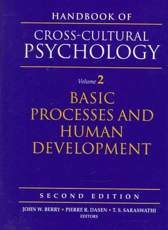 Handbook of Cross-Cultural Psychology, Volume 2: Basic Processes and Human Development (2nd Edition)