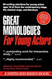 Great Monologues for Young Actors (Turtleback School  &  Library Binding Edition) (Young Actor Series)