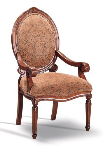 Accent Arm Chair Dark Oak by Coaster Furniture