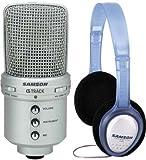 Samson G-Track USB-Studio-Mikrofon + Samson PH-60 Kopfhörer