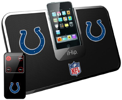 Ihip Official Nfl - Indianapolis Colts - Portable Idock Stereo Speaker With Wireless Remote Nfv5000Inc