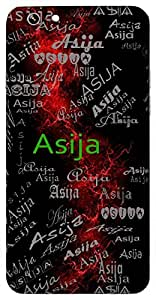 Asija (Great Sage, Brother Of Brihaspati) Name & Sign Printed All over customize & Personalized!! Protective back cover for your Smart Phone : Samsung Galaxy A-3