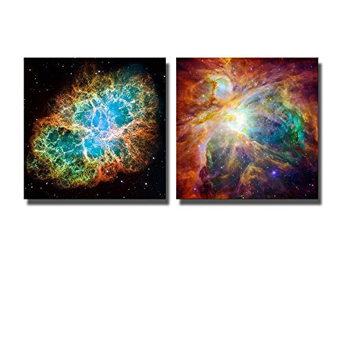 Wall26-Canvas-Prints-Wall-Art-The-Cosmic-Cloud-Orion-Nebula-and-Crab-Nebula-Modern-Wall-Decor-Home-Decoration-Stretched-Gallery-Canvas-Wrap-Giclee-Print-Ready-to-Hang