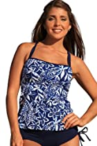 Hot Sale Ujena Vintage Blue Tankini Plus Bikini Swimsuit Swim Dress