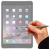DURAGADGET Puntero Lápiz Stylus Plata 2 En 1 Bolígrafo De Tinta Para Apple iPad Air 2 ( Wi-Fi, Wi-Fi + Cellular ) - ¡Muy Cómodo Y Práctico!