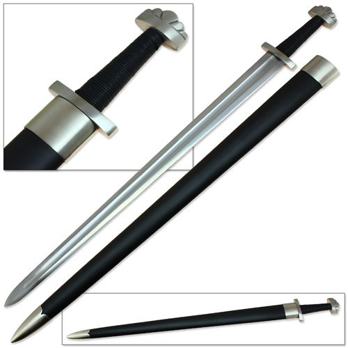Sugoi Steel Vikings Norse Raider Valhalla Battle Sword 1060 Spring Steel Functional