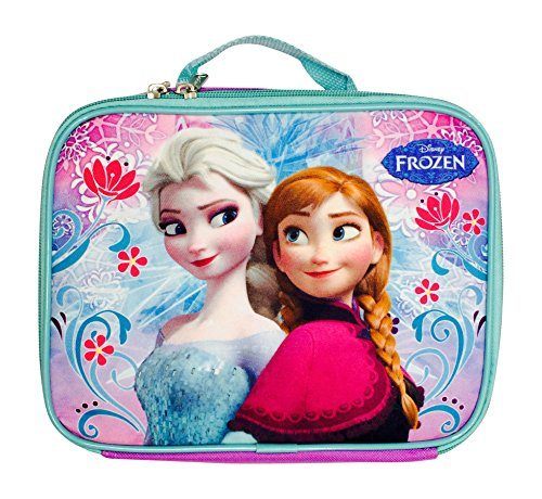 Disney Frozen Elsa and Anna Lunch Bag- Purple Swirl - 1