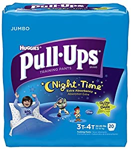 Huggies Pull-Ups Training Pants - Nighttime - Boys - Jumbo Pack - 3T-4T - 20 ct