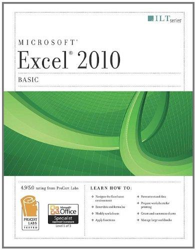Microsoft Excel 2010 Basic (ILT)