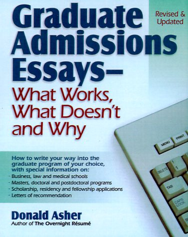 graduate admission essays asher