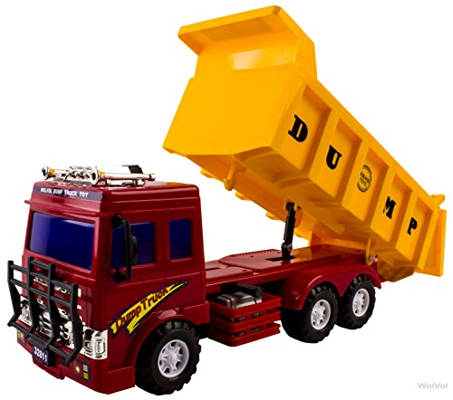 WolVol Big Dump Truck Toy for Kids with Friction Power (Heavy Duty) (Heavy Duty Trucks compare prices)