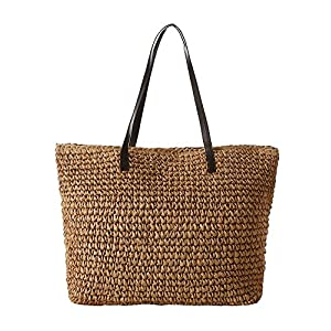 Women's Classic Straw Summer Beach Tote