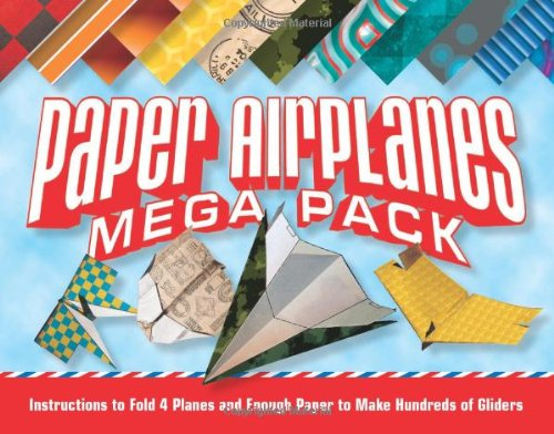 Paper-airplanes-mega-pack-Instructions-to-fold-4-planes-and-enough-paper-to-make-hundreds-of-gliders