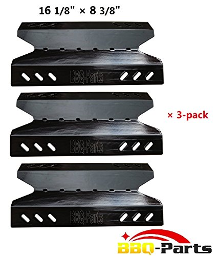 Hongso PPF431(3-pack) Porcelain Steel Heat Plate, Heat Shield, Heat Tent, Burner Cover, Vaporizor Bar, and Flavorizer Bar Replacement 96431 for Select Gas Grill Models by BBQ Pro, Kenmore, Outdoor Gourmet, Sams Club and Others (16 1/8 (Kenmore 3 Burner Patio Grill compare prices)