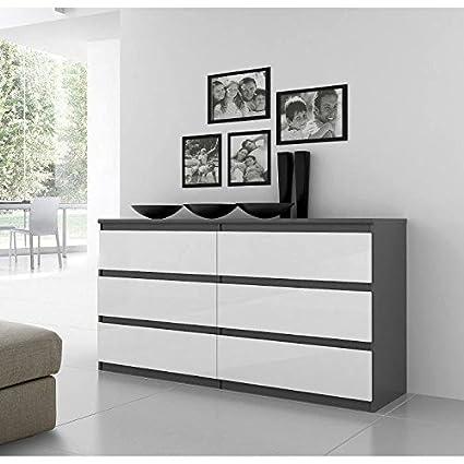 finlandek cómoda natti 154cm gris y blanco