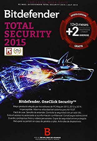 Bitdefender Antivirus Total Security 2015 - Software De Seguridad, 5 Dispositivos
