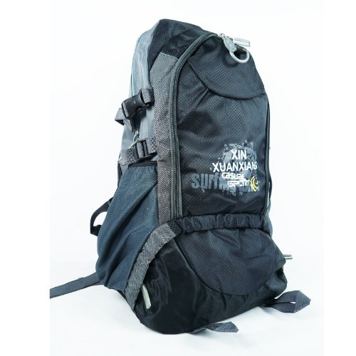 Outdoor Ultralight Internal Frame Hiking Cycling Camping Gear Travel Bags Montaineers Backpack 5 Color To Choose Black front-616779