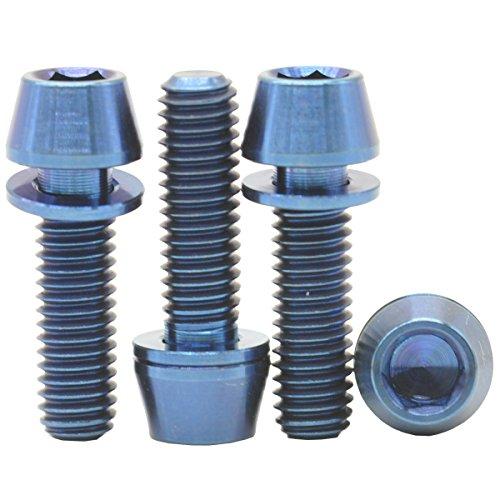 [4 Pack] MCTi M6 x 20 mm Titanium Ti Schraube MTB Bike Fahrrad Innensechskantschlüssel, keilförmig Vorbau Waschmaschine Schrauben