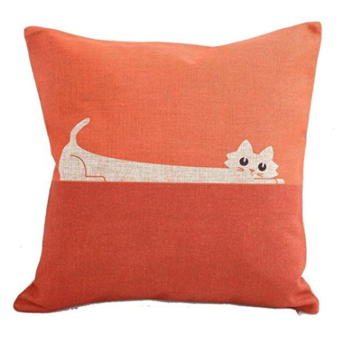 Sunnywill Karte Kissen Fall Sofa Taille Throw Kissen Cover Home Decor