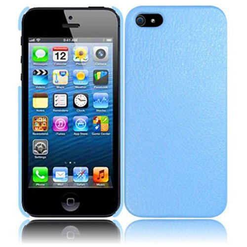 Cell Accessories For Less (Tm) For Apple Iphone 5 Leather Back Cover Case - Cool Blue - By Thetargetbuys *Free Shipping*