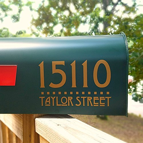Two sets of Craftsman Style Mailbox Address Decals (Craftsman Address Numbers compare prices)