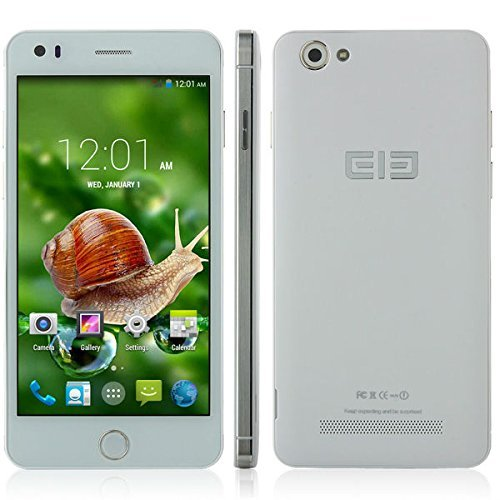 Elephone P6i 5.0 inches Android 4.4 Unlocked Dual SIM Smartphone 960×540 IPS MTK6582 Quad Core 1.3GHz 1GB RAM 4GB ROM 13MP 2100MAH OTG (White)